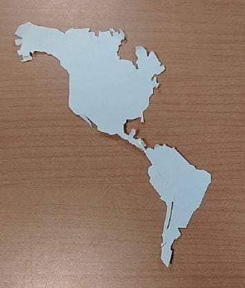 世界地図の工作